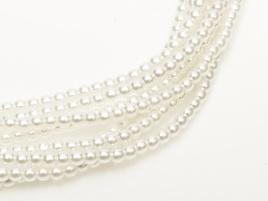 Glass Pearls Bright White 3 mm (44 cm strand)