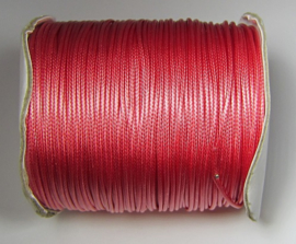 Waxed Cord 1,5 mm Pink Coral W128 (1 meter)