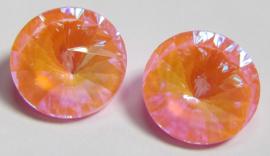 Glass Rivoli 12 mm Powdery Pink DeLite (per 1)