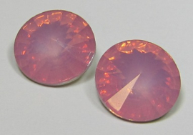 Resin Rivoli 14 mm Dark Rose Opal (per 2)