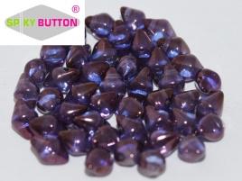 Spiky Button 4,5 x 6,5 mm Crystal Lila Vega Luster (per 25)