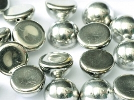 Dome Beads 14 x 8 mm Jet Labrador Full (per 5)