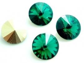 Resin Rivoli 12 mm Emerald (per 3)
