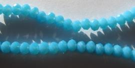 Facet Rondel 3 x 4 mm Luster Opaque Blue F298 (per 148 kralen)