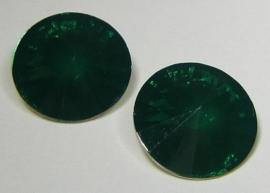 Resin Rivoli 18 mm Dark Emerald Opal (per 2)
