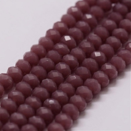 Faceted Rondelles 2 x 3 mm Purple Opal F1276 (per 134 beads)
