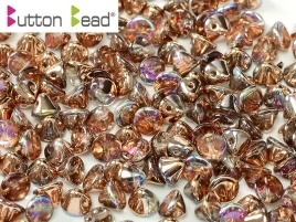 Button Bead Crystal Copper Rainbow (per 20)