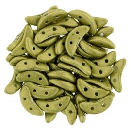 CzechMates Crescent Saturated Metallic Yellow Green (per 5 gram)