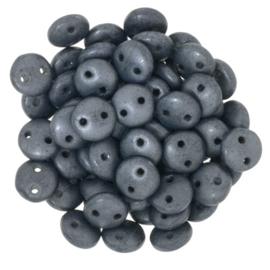 CzechMates Lentils Matte - Hematite (per 36)