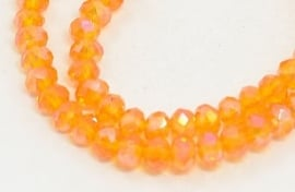 Faceted Rondelles 2 x 3 mm Orange AB F804 (per 98 beads)