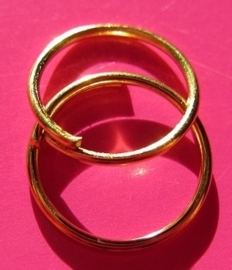 Ring Enkel 10 mm H166 G (per 5 gram)