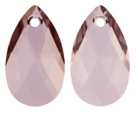 Swarovski Druppel 6106 28 mm Crystal Antique Pink (per stuk)