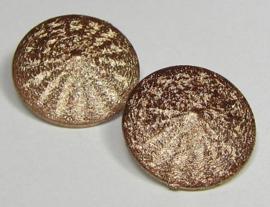 Resin Rivoli 14 mm Stardust Copper (per 2)