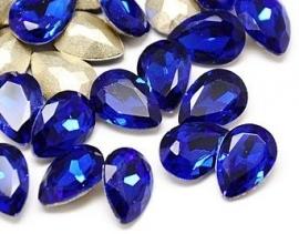 Glass Drop 20 x 30 mm Cobalt (per 1)