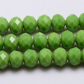 Facet Rondel 3 x 4 mm Opaque Yellowgreen F481 (per 143 kralen)