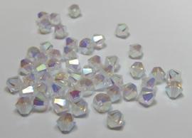 Swarovski Bicone 4 mm Crystal AB2x (per 50)