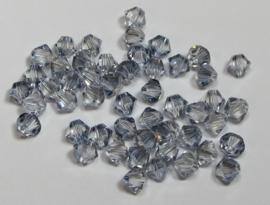Swarovski Bicone 4 mm Crystal Blue Shade (per 50)
