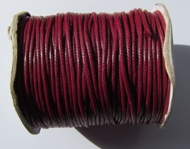 Waxed Cord 2 mm Dark Red W021 (1 meter)