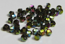 Swarovski Bicone 3 mm Crystal Iridescent Green 2x (per 50)