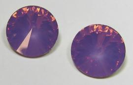 Resin Rivoli 16 mm Light Cyclamen Opal (per 2)
