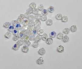 Swarovski Bicone 3 mm Crystal AB (per 50)