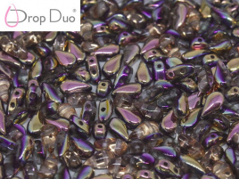 DropDuo 3 x 6 mm Crystal Capri Rose (per 50)
