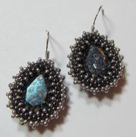Kit Oorbellen Nala Blue Patina (Inclusief patroon)