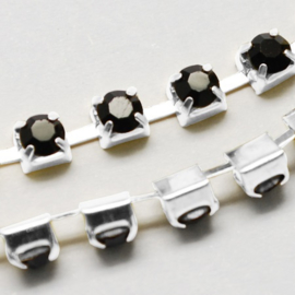 Cup Chain SS12 3 mm Black (per meter)