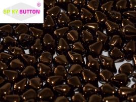 Spiky Button 4,5 x 6,5 mm Jet Bronze (per 25)