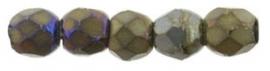 Facet 2,5 mm Matte Iris Brown (per 50)