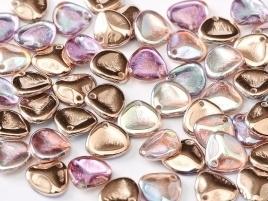Rose Petals 8 x 7 mm Crystal Copper Rainbow (per 22)