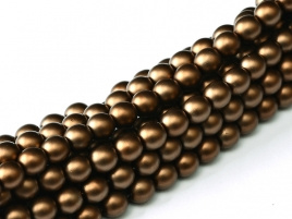 Glasparel Matted Brown Satin 3 mm (per 44 cm streng)