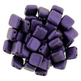 CzechMates Tiles Metallic Suede - Purple (per 10)