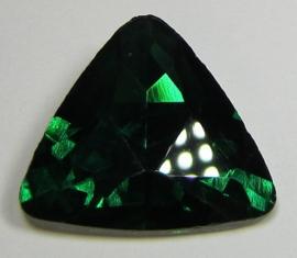 Glas Driehoek 23 mm Emerald (per stuk)