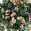 Superduo Bead Emerald - Capri Gold (10 g.)