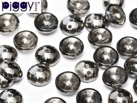 Piggy Beads 4 x 8 mm Crystal Chrome (per 18)
