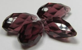 Faceted Drops 12 x 6 mm Amethyst (per 4 beads)