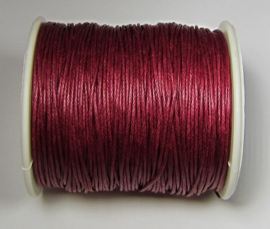 Waxed Cord 1 mm Cherry Red W155 (1 meter)