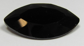 Glass Navette 17 x 32 mm Black (per 1)