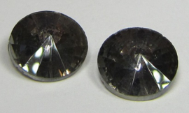 Glass Rivoli 12 mm Crystal Dark Grey (per 2)