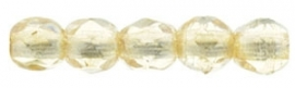 Fire Polished 2,5 mm Luster - Transparent Champagne (per 50)