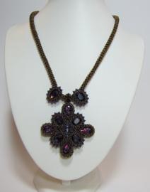 Kit Ketting Mayra Bronze Purple (Exclusief patroon)