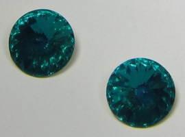 Resin Rivoli 14 mm Bright Blue Zircon (per 2)