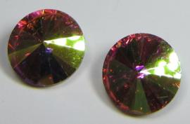 Glass Rivoli 12 mm Rose AB (per 2)