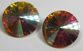 Glass Rivoli 18 mm Rose AB (per 1)
