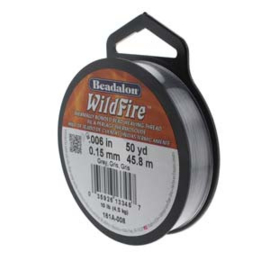 "Beadalon Wildfire Grey (0.006"") 0,15 mm (per rol van 45 meter)"