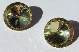 Glass Rivoli 16 mm Jonquil G514 (per 2)