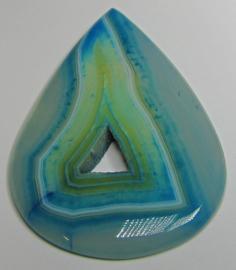 Cabochon Agaat Streep Aqua Druzy C1355 (per stuk)