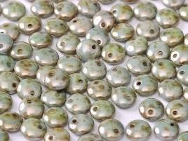 Lentils 6 mm Alabaster Blue Luster (per 24)