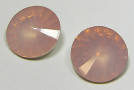 Resin Rivoli 16 mm Pale Rose Opal (per 2)